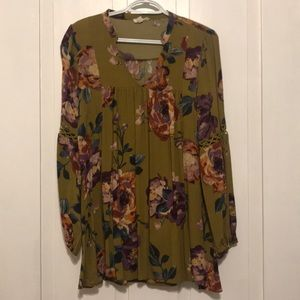 Floral Olive Tunic